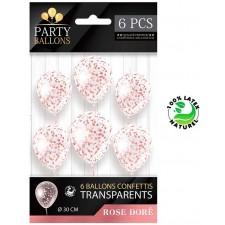 Ballon rose gold chic avec confettis