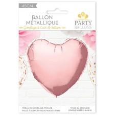 Ballon Cœur Rose Gold en Alu