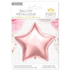 Ballon alu rose gold en forme d'étoile