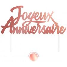 Top pour décoration de gâteau d'anniversaire rose gold