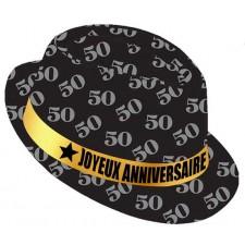 Chapeau 50 ans anniversaire type borsalino