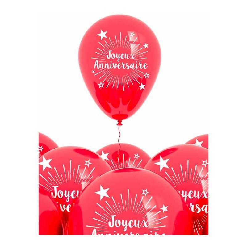 Ballons rouges joyeux anniversaire