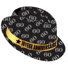 Chapeau pour anniversaire 60 ans chic