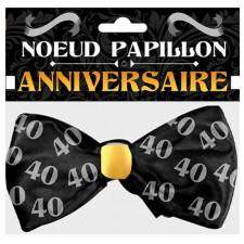 Nœud papillon cadeau anniversaire 40 ans