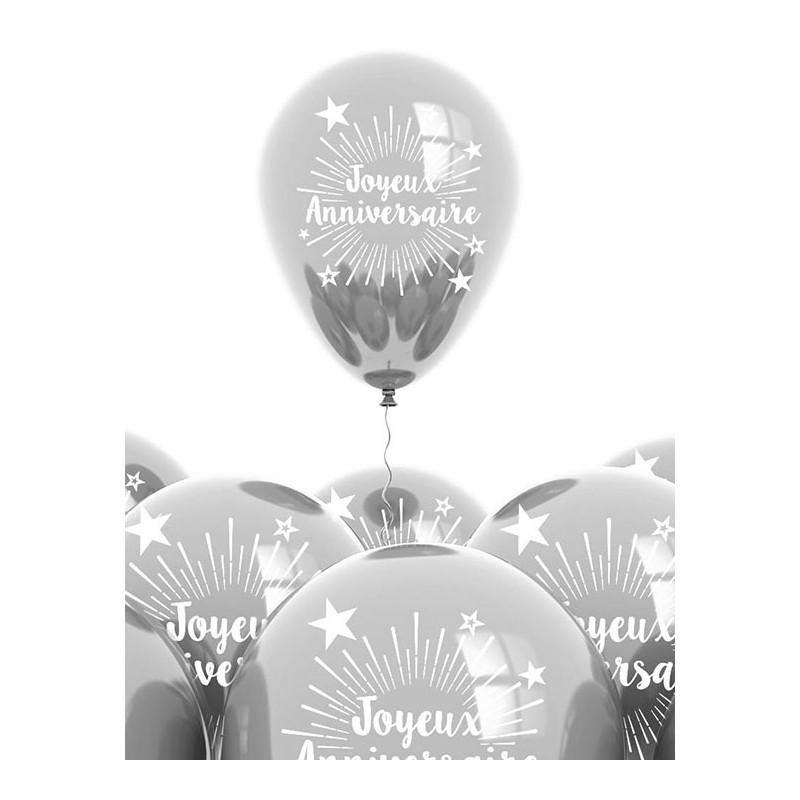 Ballons couleur argent pour anniversaire