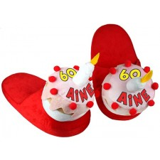 Pantoufles 60 ans pour cadeau d'anniversaire humoristique