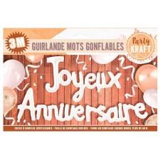 Guirlande joyeux anniversaire blanche en ballons