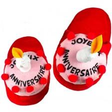 Pantoufles pour cadeau d'anniversaire marrant
