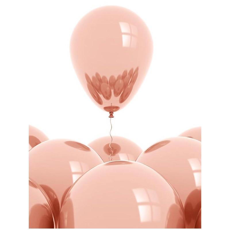 Ballons en latex rose gold gonflage air et hélium