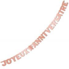Guirlande pour anniversaire thème rose gold