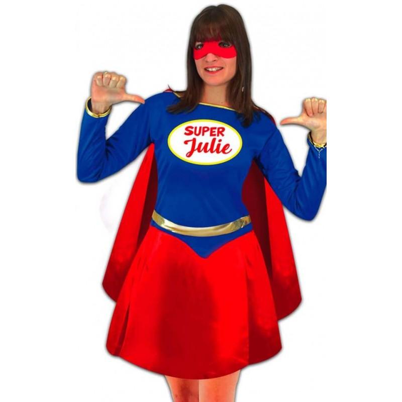 Costume de super-héros femme à personnaliser