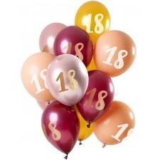 Bouquet de ballons 18 ans rose gold et doré aux couleurs tendances idéal pour une décoration