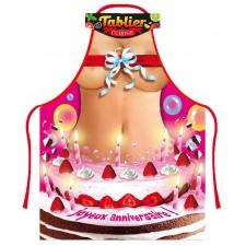 Tablier femme gâteau d'anniversaire humoristique