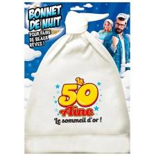 Bonnet de nuit pour anniversaire 50 ans