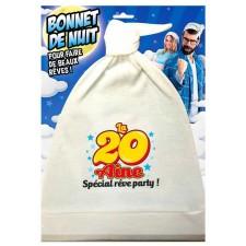 Bonnet de nuit pour anniversaire 20 ans