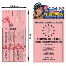 Carte d'anniversaire en forme de permis de conduire