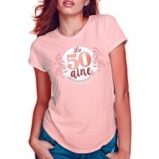Tee-shirt d'anniversaire femme 50 ans