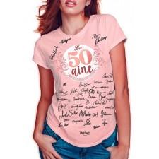 Tee-shirt à dédicacer 50 ans spécial anniversaire chic