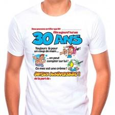 Tee-shirt homme pour anniversaire 30 ans humoristique