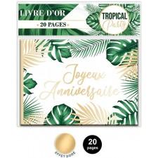 Livre d'or pour anniversaire sur le thème tropical