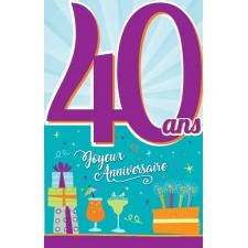 Carte à signer pour anniversaire 40 ans