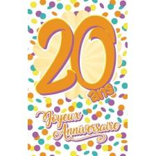 Carte à offrir pour anniversaire 20 ans