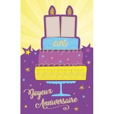 Carte à personnaliser pour anniversaire