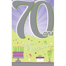 Carte 70 ans d'anniversaire à signer