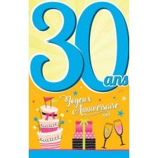 Carte 30 ans spéciale anniversaire