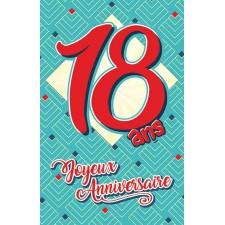 Carte 18 ans à signer pour anniversaire