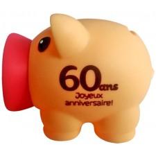Petite tirelire 60 ans en forme de cochon