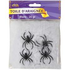 Toile d'araignée petite taille décorative pour Halloween