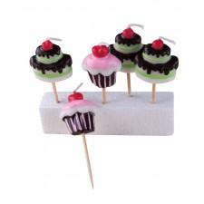 Bougies en forme de cupcakes pour anniversaire