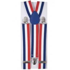 Accessoire bleu blanc rouge pour supporter France bretelles