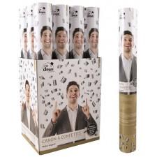 Canon à confettis pour réveillon, anniversaire, EVG, EVJF, fête couleur argent