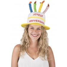 Chapeau coloré pour anniversaire