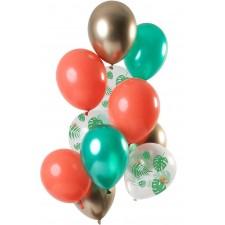 Bouquet de ballons pour décoration d'anniversaire sur le thème tropical