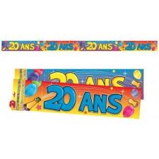 Bannière pour anniversaire 20 ans décorations