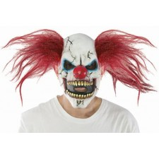 Masque de clown diabolique tueur en latex pour Halloween
