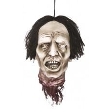 Déco spéciale Halloween tête de zombie à accrocher