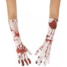 Accessoires d'Halloween gants ensanglantés