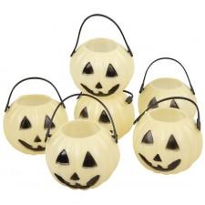 Pots à bonbons phosphorescents en forme de citrouilles pour Halloween