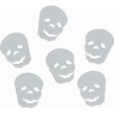 Confettis têtes de mort pour décoration de table Halloween