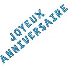 Guirlande bleue en ballons joyeux anniversaire