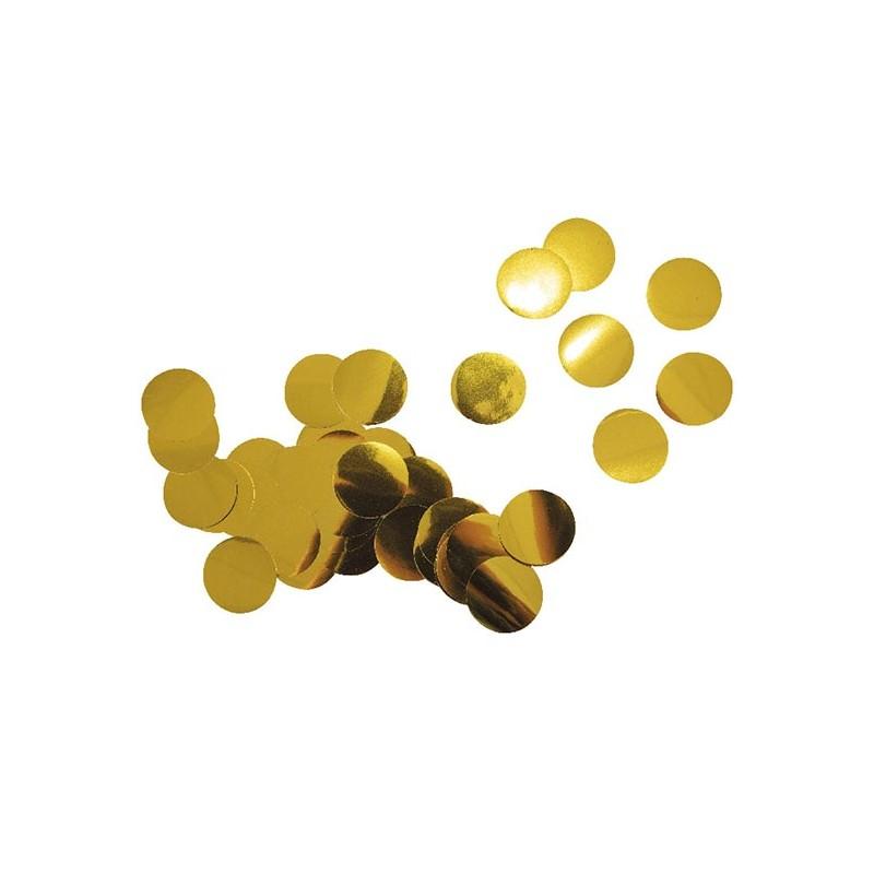 Confettis de table ronds dorés