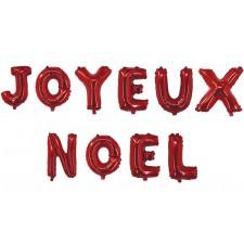Guirlande de ballons rouges joyeux Noël