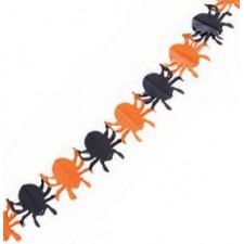 Guirlande Halloween en papier avec araignées