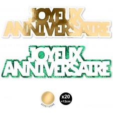 Confettis joyeux anniversaire thème jungle tropicale chic pour décorer une table