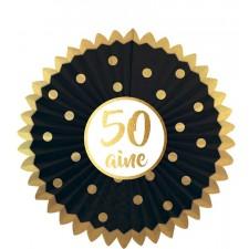 Décoration à suspendre noir et or pour anniversaire 50 ans