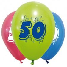 Ballons en latex pour anniversaire 50 ans